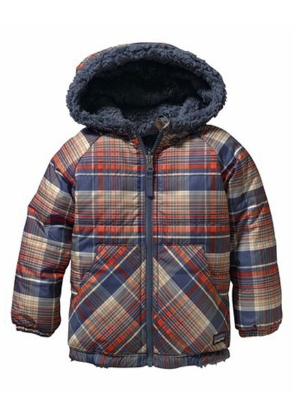 Patagonia Baby Reversible Tribbles Jacket Headlands Plaid