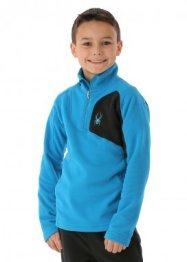 Spyder Boys Speed Fleece T-Neck (Electric Blue/Black)