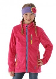 Spyder Girls Caliper Fleece Jacket (Girlfriend/Riviera/Sharp Lime)