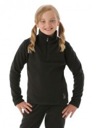 Spyder Girls Speed Fleece T-Neck (Black)