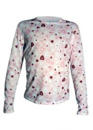 Hot Chillys Youth Pepper Skins Print Crewneck (Heart Dance)