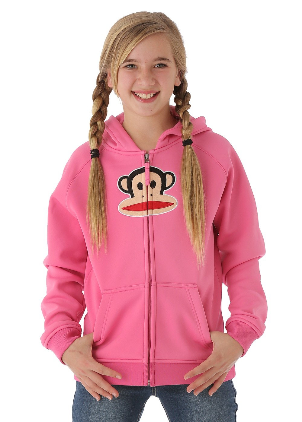 Paul Frank Girls Julius Bonded Tech Fleece (Pink)