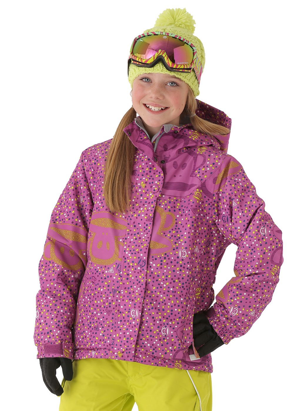 Paul Frank Girls Julius PFunfetti Insulated Jacket (Light Orchid)