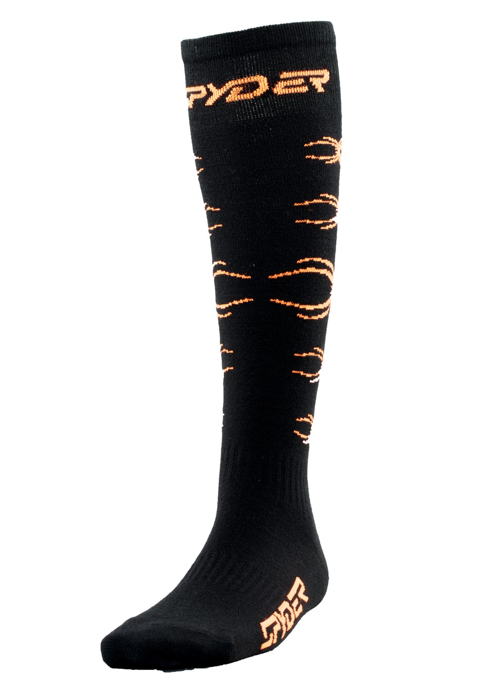 Spyder Boys Bug Out Sock (Black/Bryte Orange)