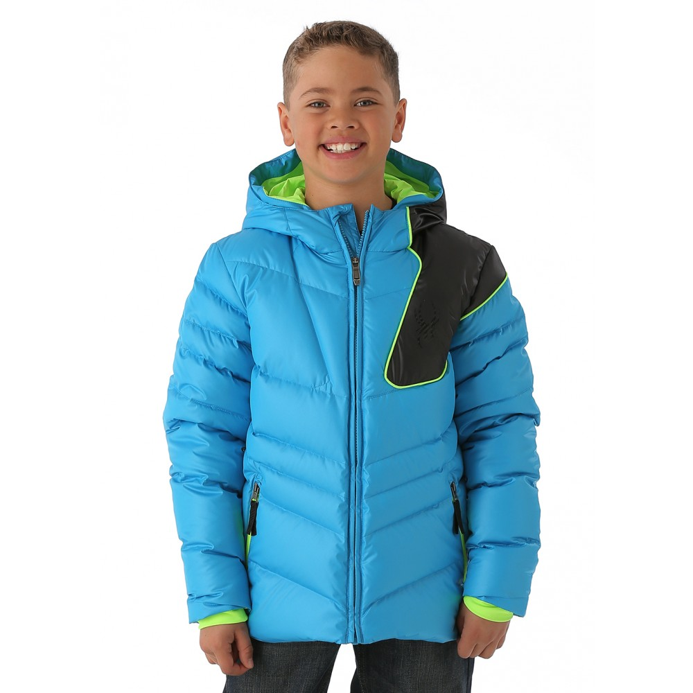 Boys Upside Down Jacket (Electric Blue/Black/Bryte Green)