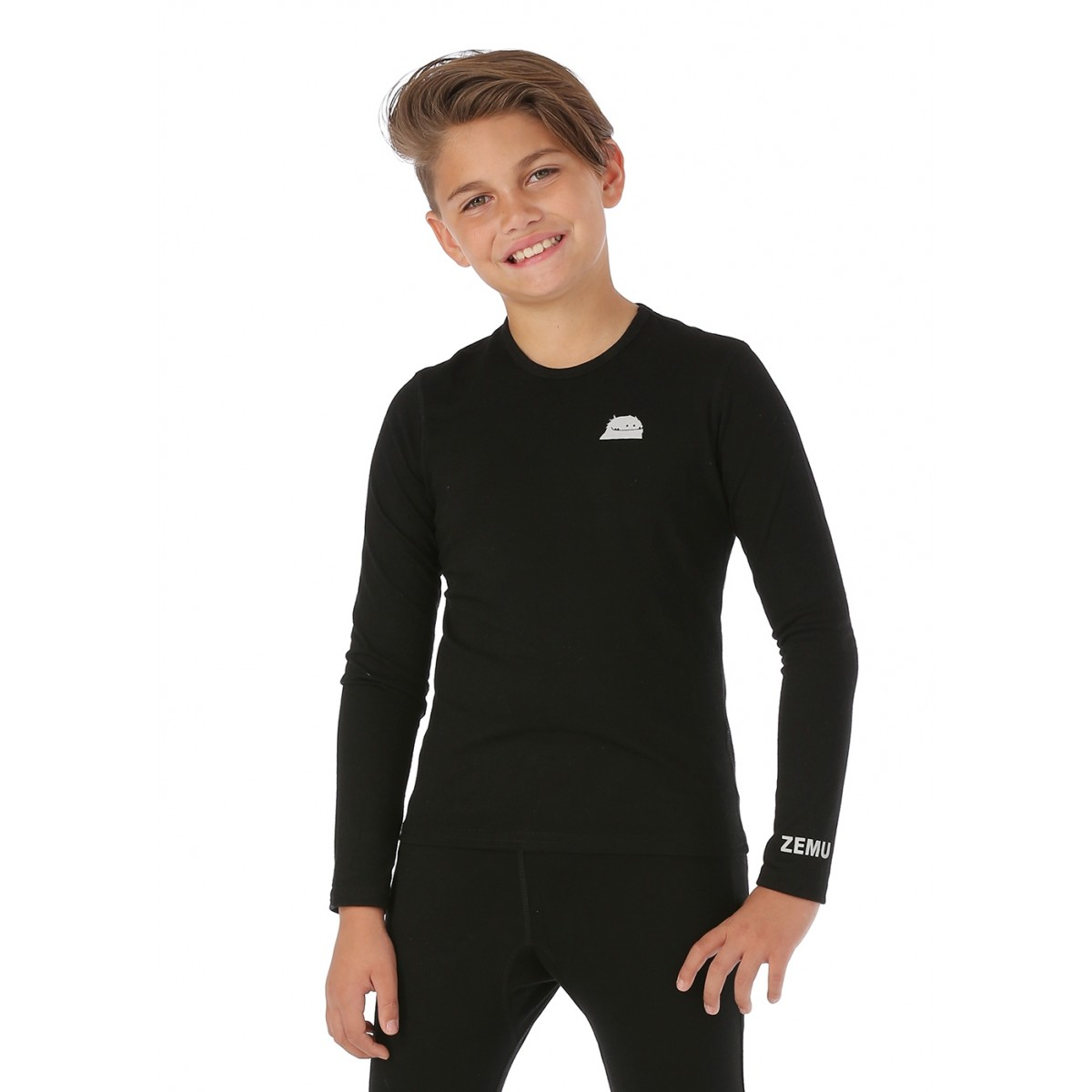 Zemu Apparel Youth Solid First Layer Long Sleeve Crewneck