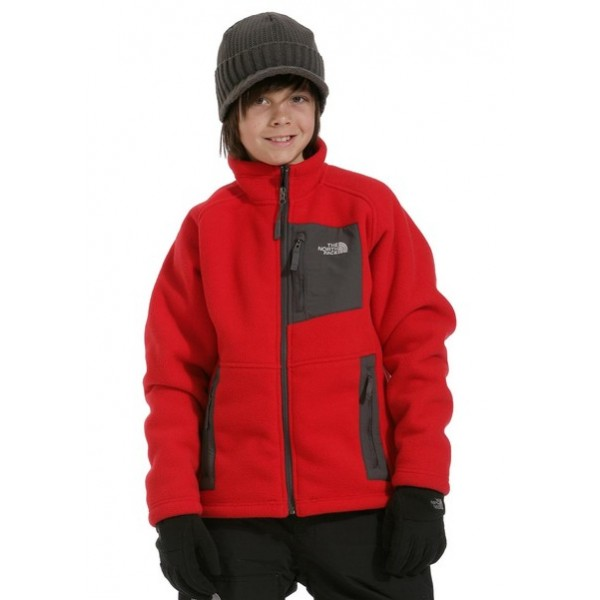 2011 Boys Hetchy Fleece Jacket (TNF Red)