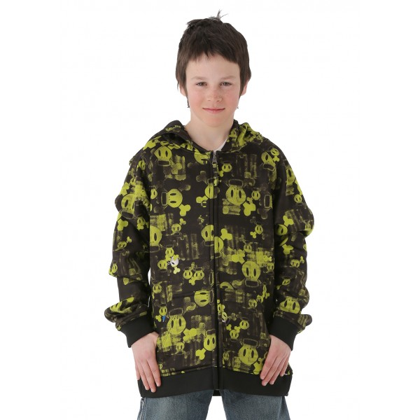 Paul Frank Boys Skurvy Fade Bonded Tech Fleece (Acid)