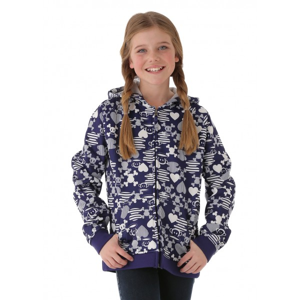 Paul Frank Girls Julius Mix-Up Bonded Tech Fleece (Iris)