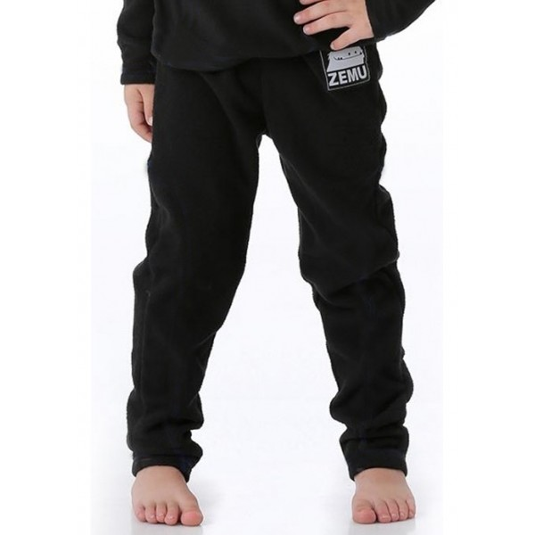 Zemu Little Boys Black Fleece Pant - WinterKids.com
