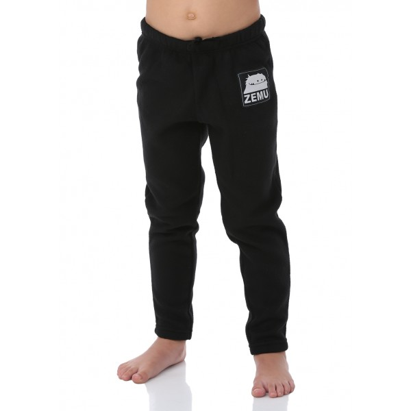 Zemu Junior Girls Black Fleece Pant - WinterKids.com