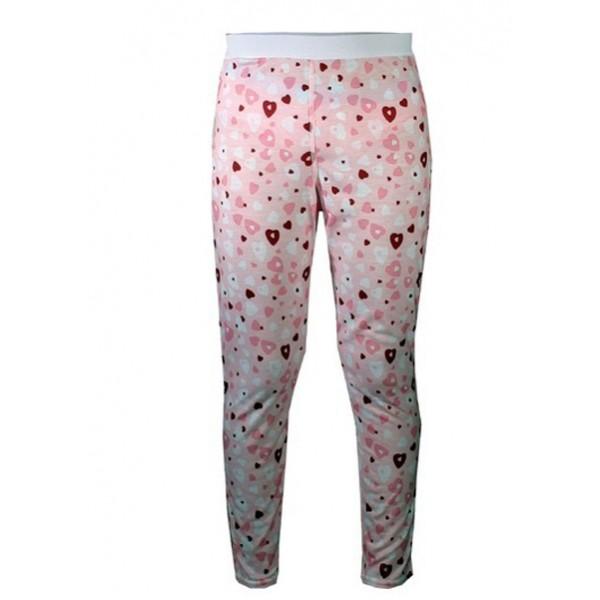 Hot Chillys Youth Pepper Skins Print Bottom (Heart Dance)