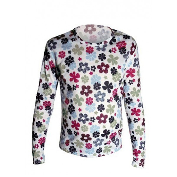 Hot Chillys Youth Pepper Skins Print Crewneck (Flower Power)