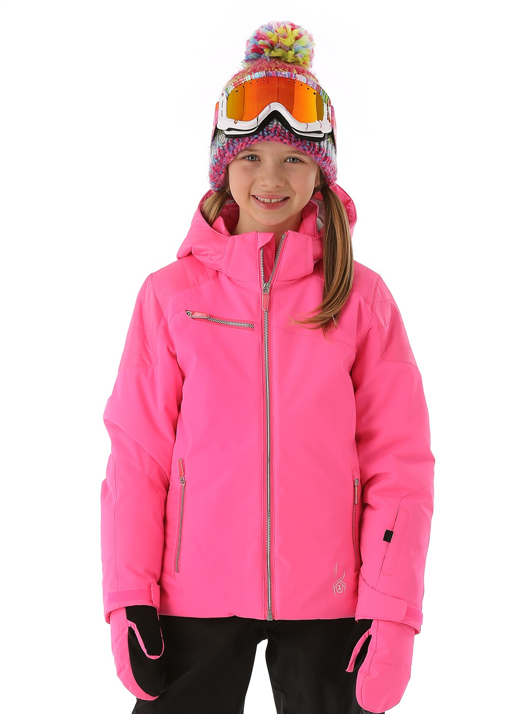Spyder F14 Girls Radiant Jacket Bryte Bubblegum Silver