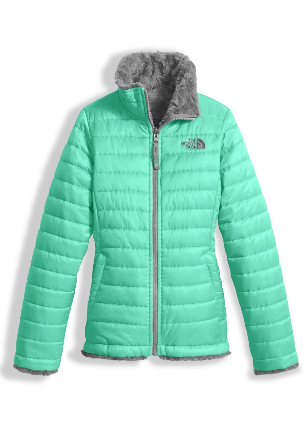 072526535612 The North Face Girls Reversible Mossbud Swirl Jacket