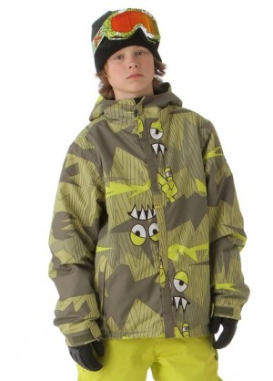 'Boys Camotooth Insulated Jacket (Army)