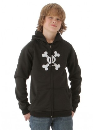 Boys Skurvy Bonded Tech Fleece Jacket (Black)