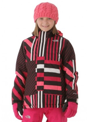 Girls Insulated Denay Jacket (Razzle Pink Stripe)