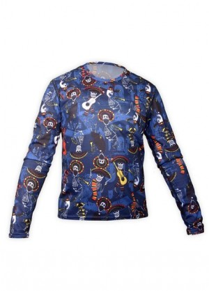 Hot Chillys Youth Pepper Skins Crewneck (Mariachi-Navy)