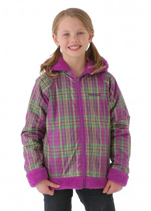 Marmot Girls Gemini Jacket (Bright Berry/Bright Berry Plaid)