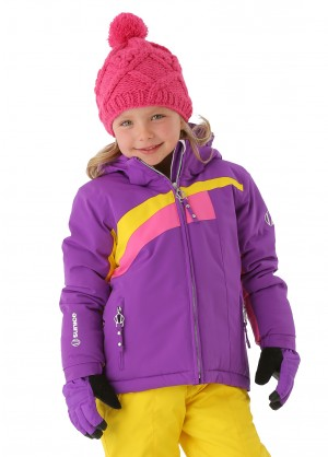 Sunice Girls Little Naquita Technical Jacket (Electric Purple/Yellow)