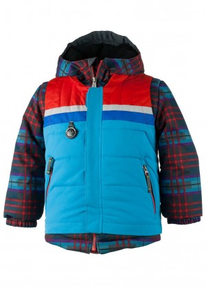 Obermeyer Boys Grom Jacket (El Wolf Plaid)