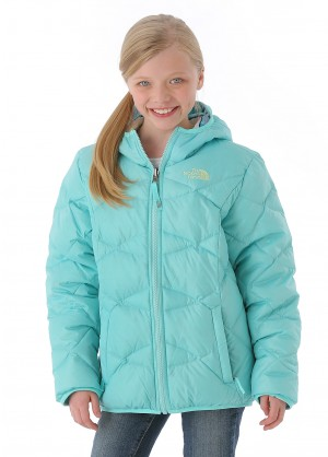 TNF Girls Reversible Perrito Jacket (Mint Blue)
