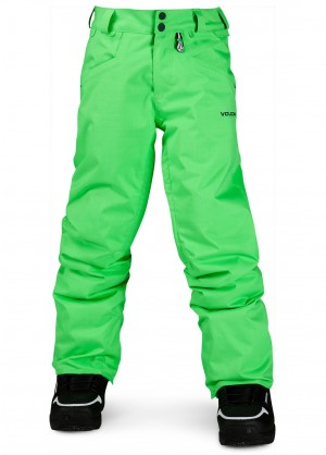 Volcom Boys Battlefield Insulated Pant (Electric Green)