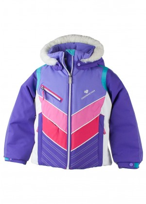 Obermeyer Girls Sierra Jacket With Fur - WinterKids.com