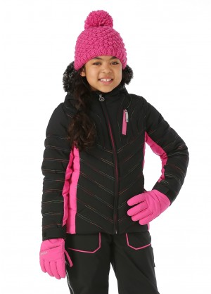 Spyder Girls Hottie Faux Fur Jacket - WinterKids.com