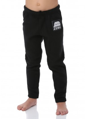 Junior Girls Black Fleece Pant