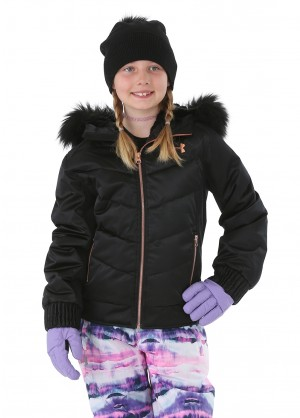 Under Armour Girls Liveluster Jacket - WinterKids.com