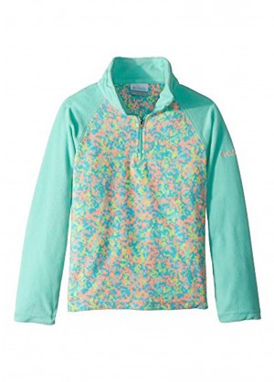 Girls Glacial II Fleece Print Half Zip
