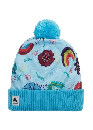 Youth Printed Pom Beanie