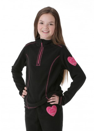 Junior Girls Zemu 1/4 Zip Fleece Top - WinterKids.com