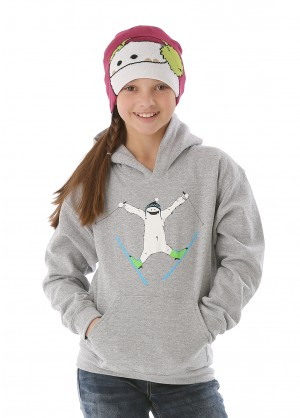 WinterKids Youth Zemu Skier Hoodie Model