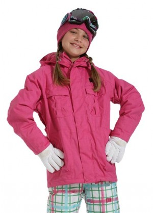 F11 Girls Servo Jacket (Crazy Pink)