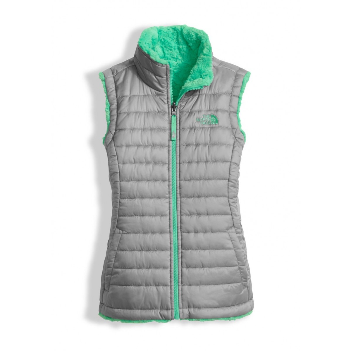 89c7ec5f3bf5 The North Face Girls Reversible Mossbud Swirl Vest - WinterKids.com